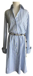 Domenico Vacca short dress Blue & White on Tradesy