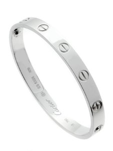 Cartier Cartier Love Bracelet White Gold sz 17