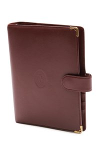 Cartier Cartier Burgundy Leather Medium Agenda Cover