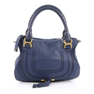 Chloé Chloe Leather Satchel in Blue