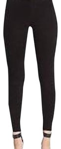 Vince Suede Leather Black Leggings