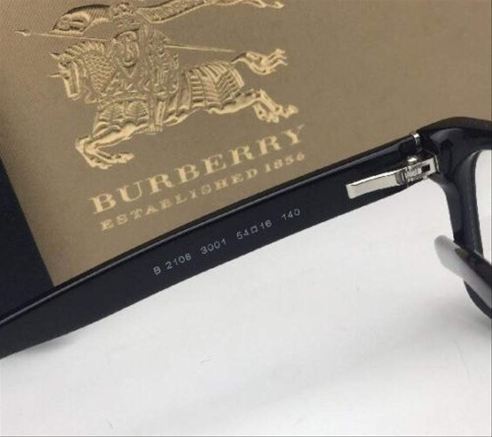ea609a1c296 Burberry New BURBERRY Eyeglasses B 2108 3001 54-16 140 Shiny Black Frame  Image 11. 123456789101112