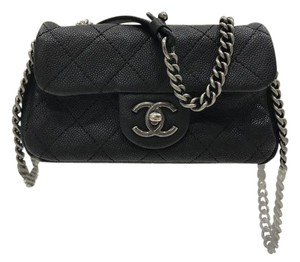 Chanel Leather Quilted Chain Cross Body Bag