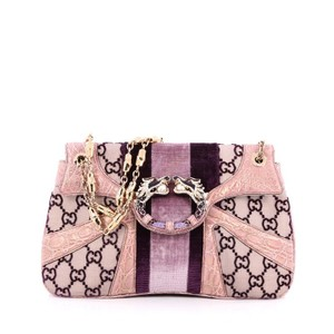Gucci Velvet Satchel in Pink and Purple