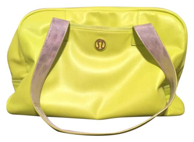 Item - Urban Sanctuary Gym Neon Yellow Faux Leather Weekend/Travel Bag