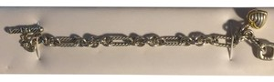 David Yurman David Yurman Cable Heart Charm Bracelet with Gold