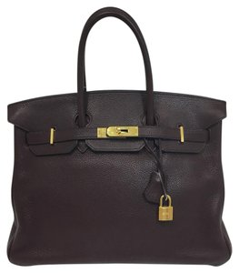 Hermès Birkin Birkin 35cm Purple Satchel in Prune