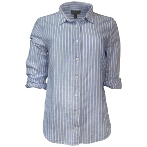 J.Crew Striped Cotton/linen Shirt Machine Wash Button Down Shirt