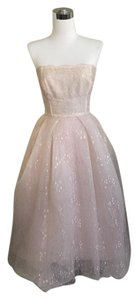 Monique Lhuillier Blush Chantilly Lace Tea Dress