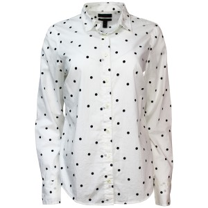 J.Crew Shirt Cotton Longsleeve Button Down Shirt Onyx Dot
