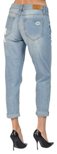 Dollhouse Womens Clothing Womens Pants Ripped Boyfriend Cut Jeans