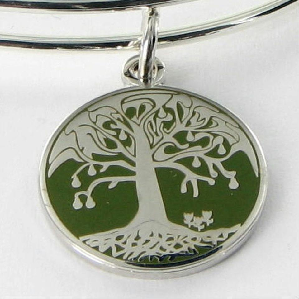 Alex and Ani A15eb57ss Tree Of Life Green Color Infusion Expandable ...