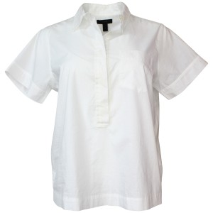 J.Crew Shirt Short-sleeve Cotton Pocket Button Down Shirt White