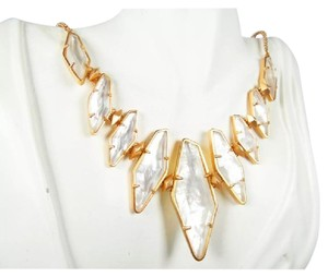 Kendra Scott Stunning Berniece Rose Gold Plated, Faceted Mother Of Pearl Necklace