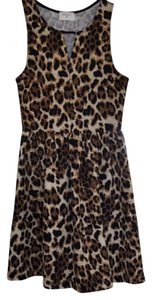 Everly short dress Black/Tan on Tradesy