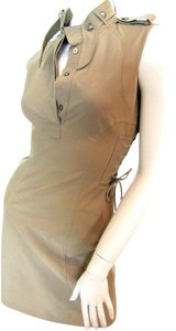 Gucci short dress Beige, Brown Cotton on Tradesy