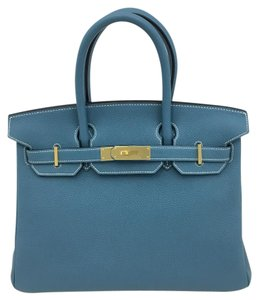 Hermès Tote in blue jeans
