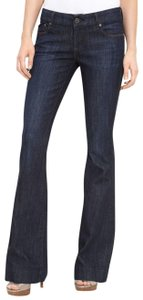 Dylan George Denim Fashion Flare Leg Jeans-Dark Rinse