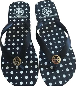 Tory Burch BLACK/ WHITE Sandals