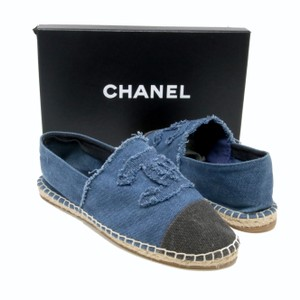 Chanel Graffiti Ballerina Canvas Valentino Blue Flats