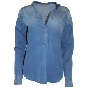 Vince Shirt Pullover Fade Cotton Top 451 LBR