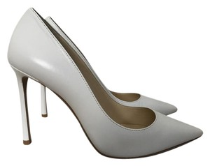 Jimmy Choo Leather Pointed Toe White Pumps