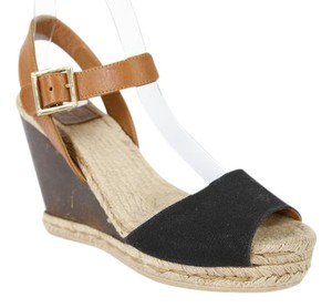 Tory Burch Black and Brown Wedges
