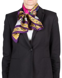 Versace Versace Women's Native American Feather Pattern Silk Scarf