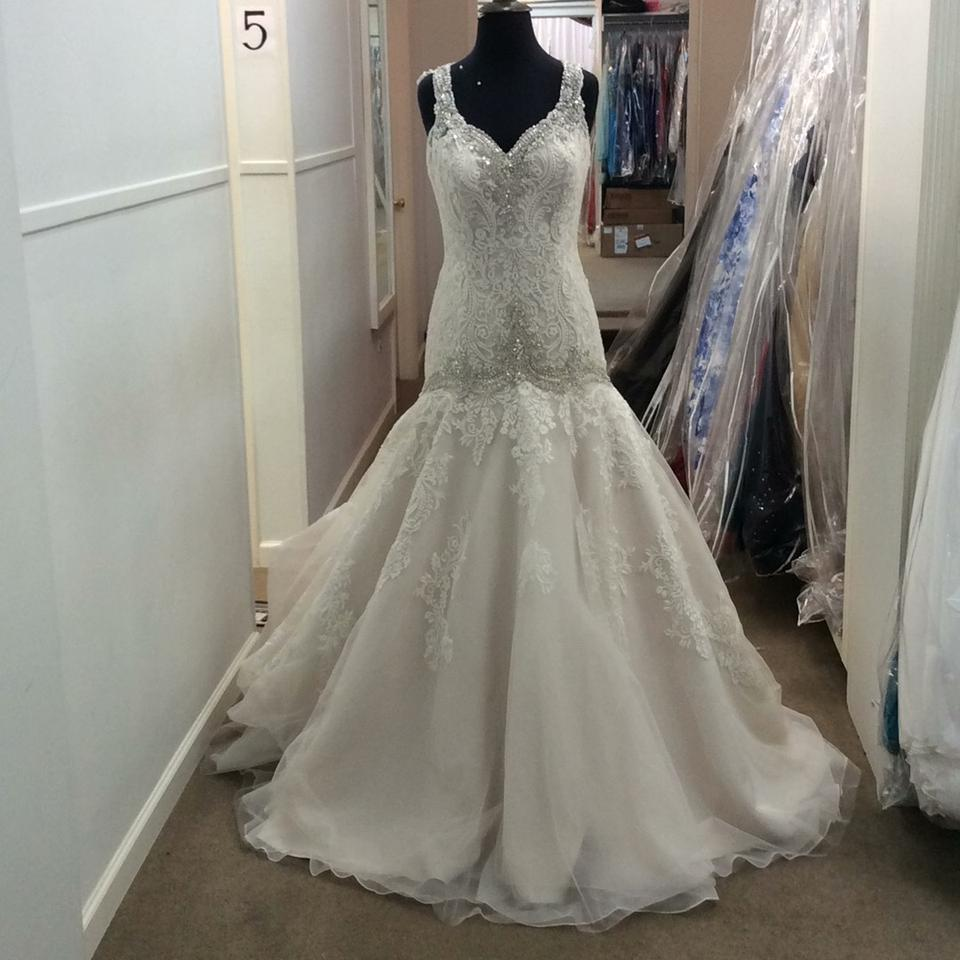 Allure Bridals Ivory/Champagne Lace/Tulle 9127 Formal Wedding Dress ...