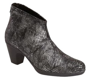 Toni Pons Snakeskin Reptile Leather Silver Boots