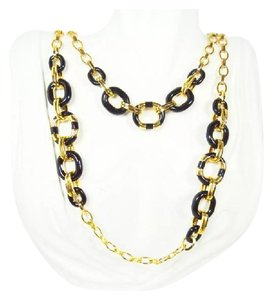 Kate Spade Chanel Inspired Kate Spade Mod Moment Gold Plated Metal & Black Enamel