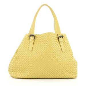 Bottega Veneta Leather Tote in Yellow