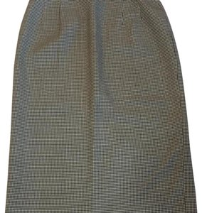 Pendleton Houndstooth Pencil Size 6 Vintage Skirt black and white