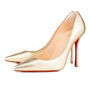 Christian Louboutin Decoltish 100 Louboutin 100mm Point Toe Gold Pumps