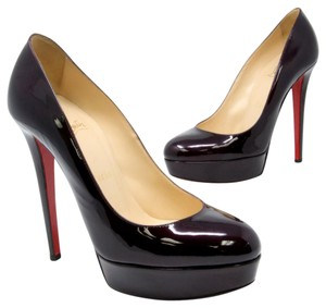 Christian Louboutin Spiked Studded Versace Valentino Chanel Burgundy Pumps