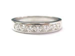 Hearts on Fire Hearts On Fire 18Kt Round Cut Diamond Channel Set Band .75CT G Color