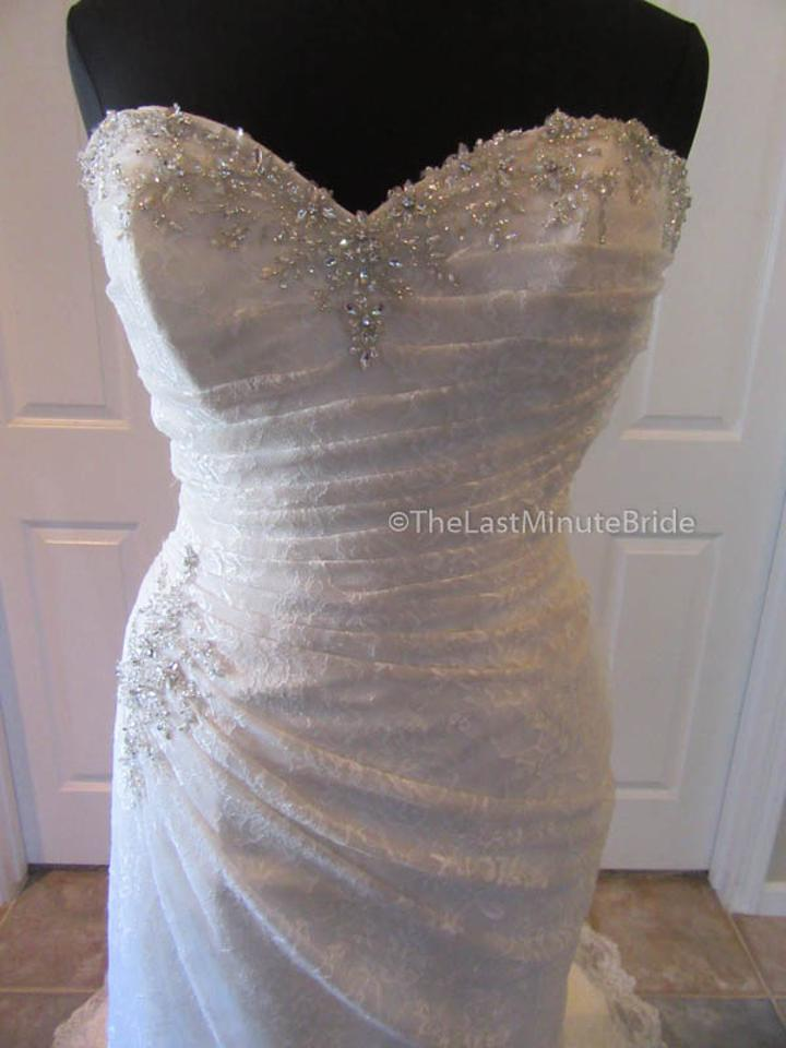 02be6c8a42a Sophia Tolli Ivory Silver Lace Roslin Y11415 Traditional Wedding Dress Size  14 (L). 1234567891011