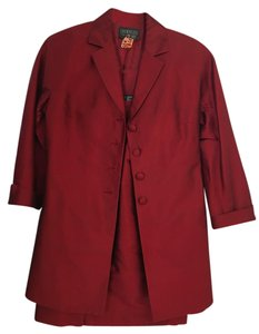 Lafayette 148 New York Lafayette 148 Red Silk long jacket with pencil skirt.