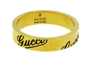 Gucci Gucci Icon thin band band ring in 18k yellow gold new in box size 6.5