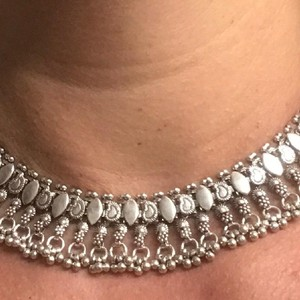 Sterling Silver Bali Style Necklace Intricate Sterling Silver Choker Collar Neclace