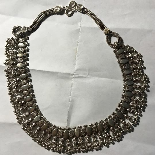 Sterling Silver Bali Style Necklace Intricate Sterling Silver Choker Collar Neclace Image 1