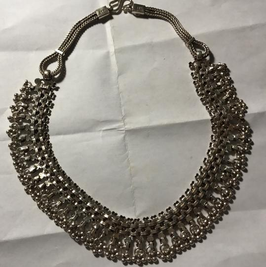 Sterling Silver Bali Style Necklace Intricate Sterling Silver Choker Collar Neclace Image 3