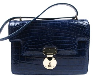 Giorgio Armani Alligator Flap Shoulder Bag