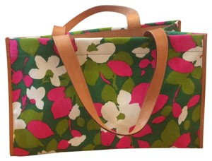 Kate Spade Tote in white, green, pink, brown, multi