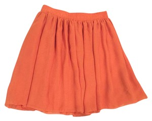 American Apparel Mini Skirt bright sherbert orange