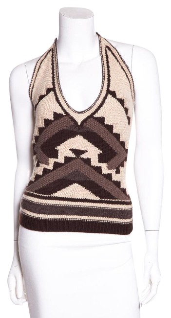 Item - Brown Hand Knit Halter Top Size 10 (M)