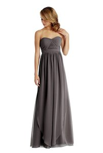 Jenny Yoo Charcoal Chiffon Aidan Bridesmaid/Mob Dress Size 2 (XS)