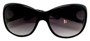 Kenneth Cole Reaction Kenneth Cole Black Reaction Oval Lens Sunglasses Logo Hinge
