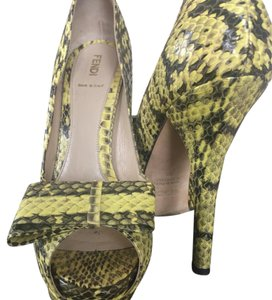 Fendi Yellow/Black Platforms
