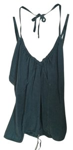 Diesel Halter Open Back Sleeveless Silk Top Teal/Blue